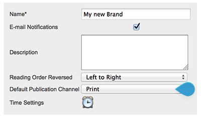 Choosing the default Publication Channel