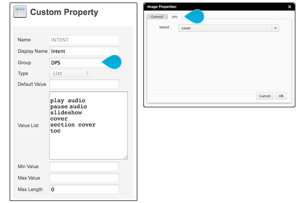 Setting a custom property to appear in a dialog box