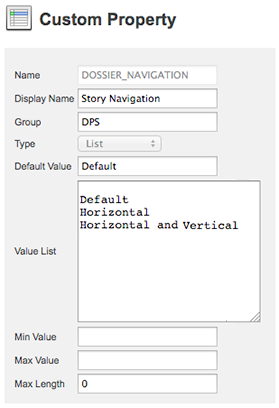 DOSSIER_NAVIGATION custom property