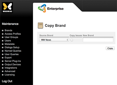 The Copy Brand page