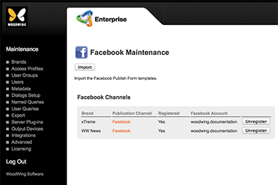 Facebook Maintenance page