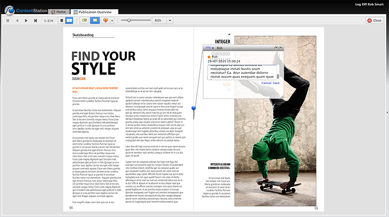 The Full Layout view in Content Station 9.6