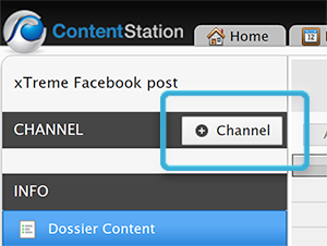 The Add Channel icon in the Channel pane