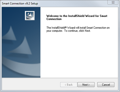 The Welcome screen of the Windows installer