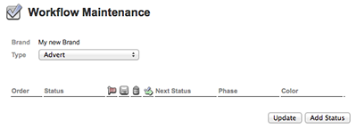The Workflow Maintenance page