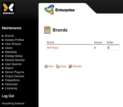 The Brands Overview page