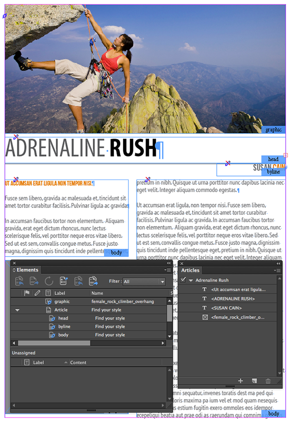 Example of an InDesign Article