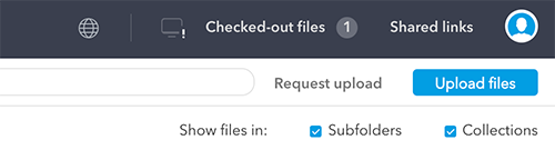 The 'Show files in Collections' option