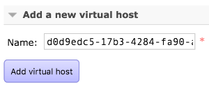 Adding a new Virtual Host